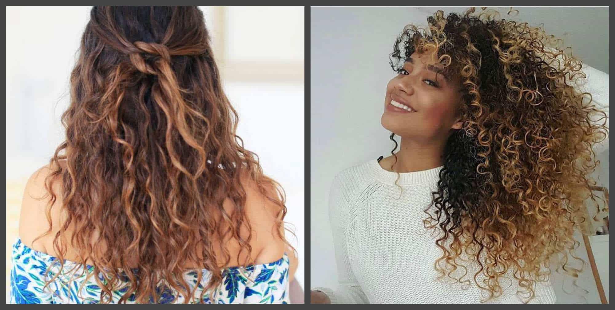 Cortes de pelo rizado 2020-pelo ligero y moreno