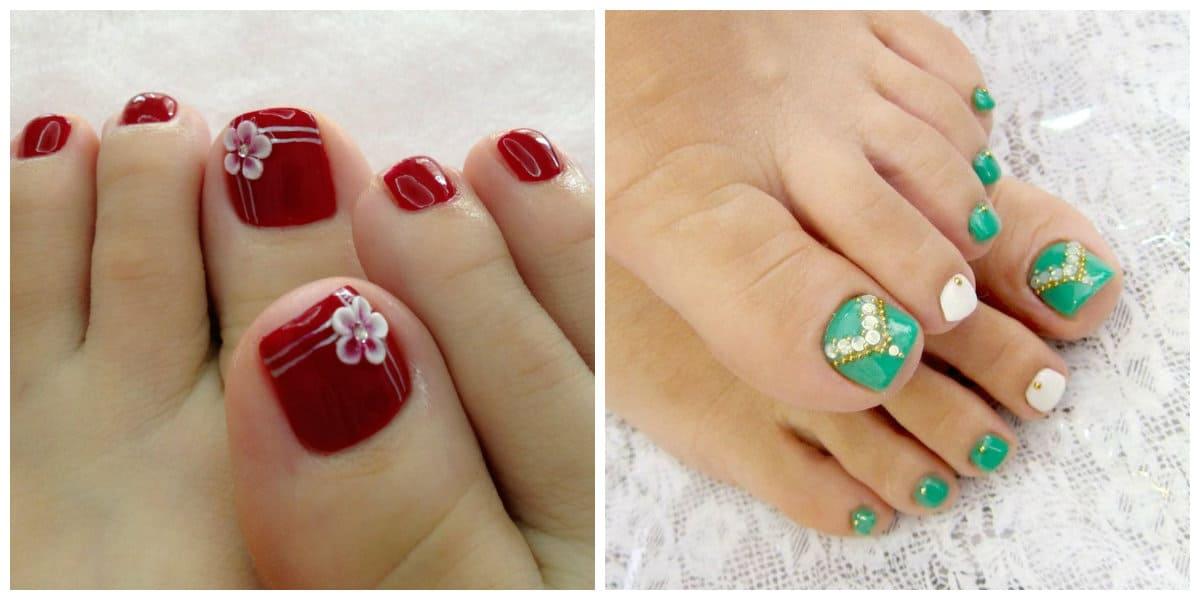 Diseños de uñas para pies 2018- tendencias perincipales de la pedicura