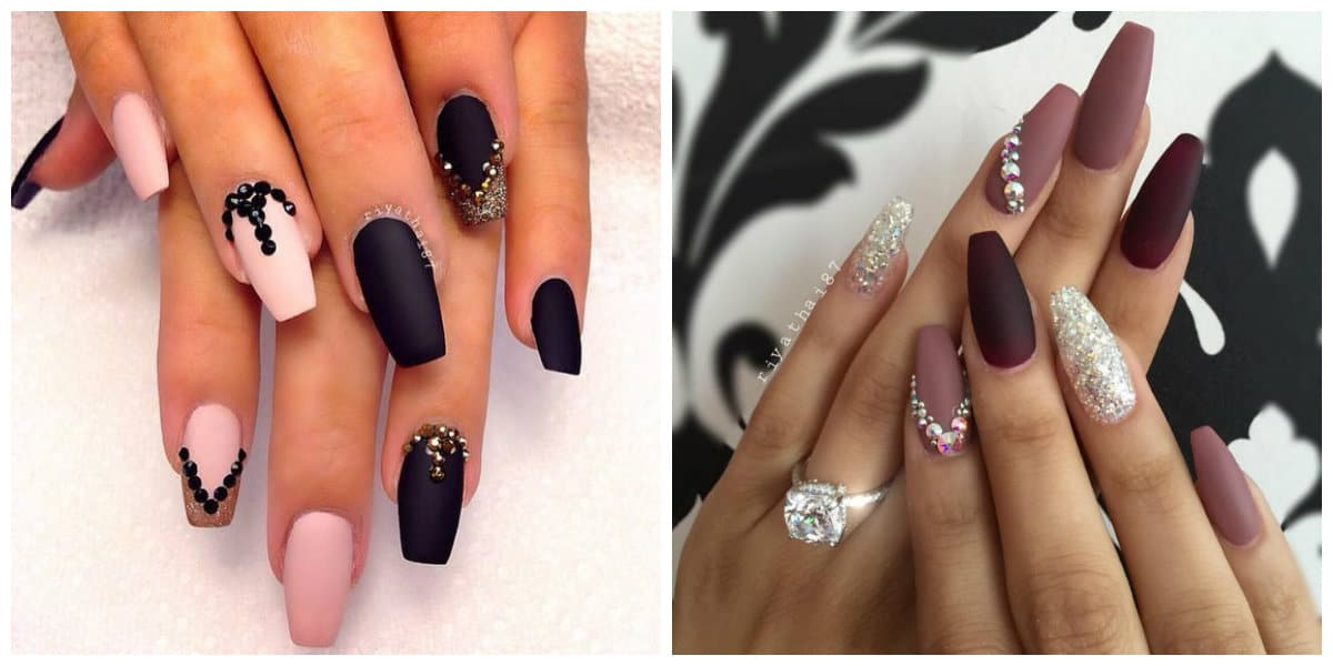 Ideas of manicure with beige shellac