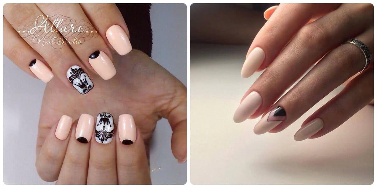 Tendencia de uñas 2020- manicaura lunar que se ve muy elegante y de moda
