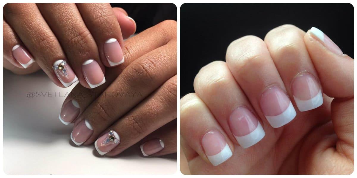 Uñas cortas 2022- French manicura aplicada sobre las uñas cortas