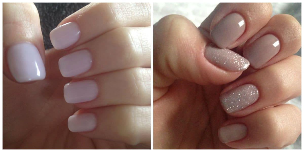 Uñas cortas 2022- colores neutrales aplicada a las uñas cortas