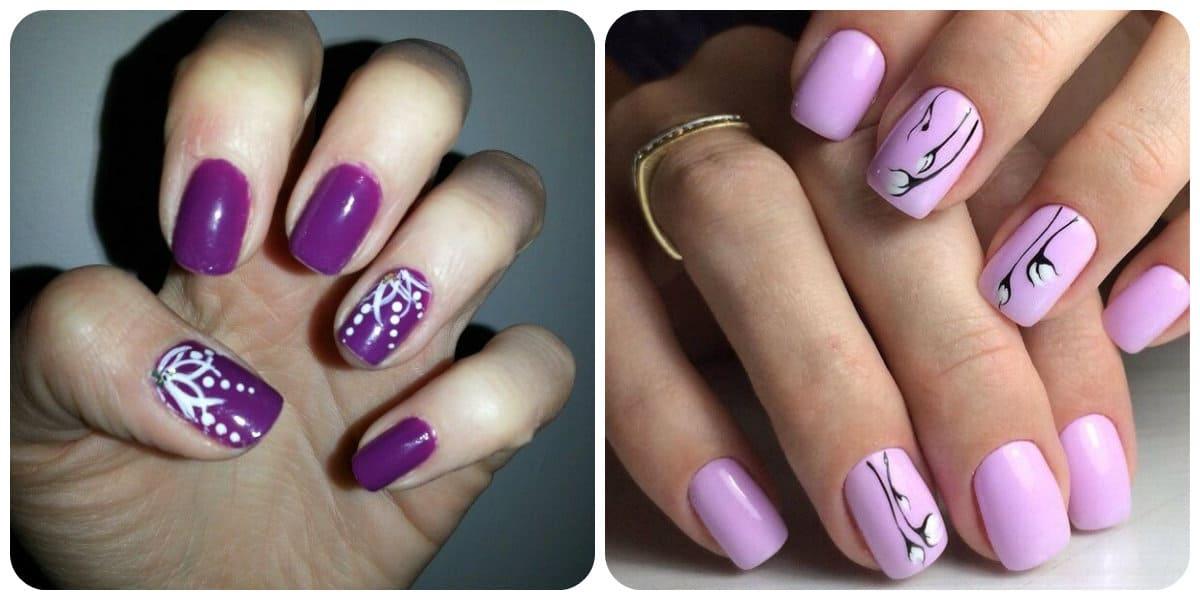 Uñas de verano 2018- el violeta con sus tonalidades tambien esta de moda