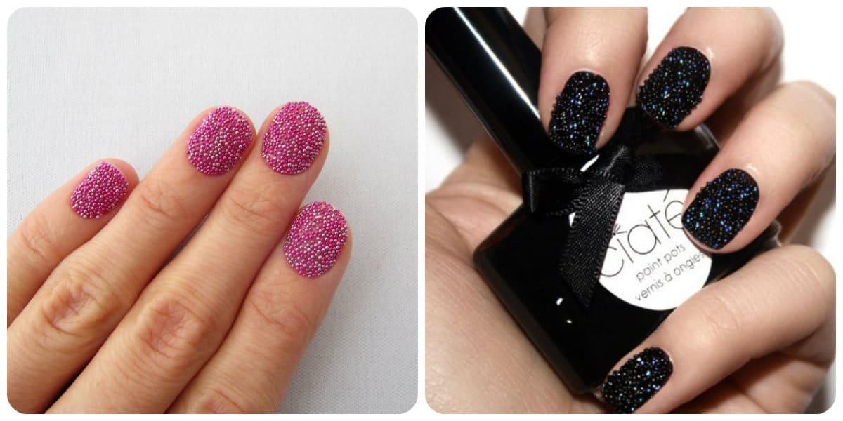 Uñas decoradas 2020- la tendencia de Caviar Polish esta de moda