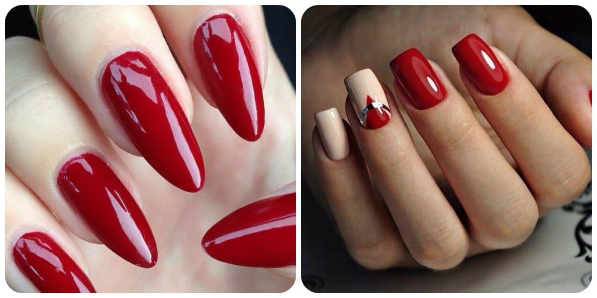 Uñas rojas 2018; tendencias de moda para uñas rojas