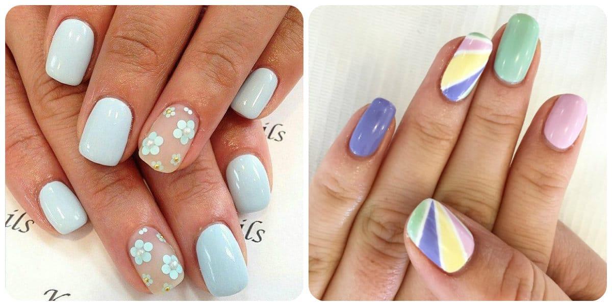 Uñas shellac 2018- colores clasicos y de pastel