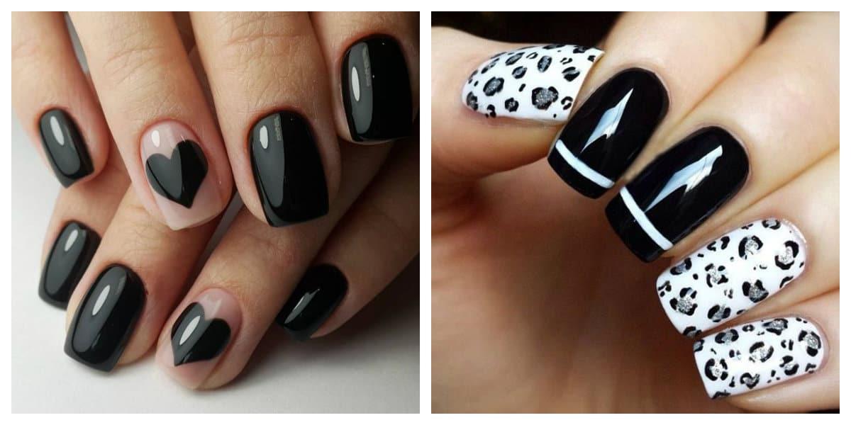 Tendenicas de colores de uñas 2020, colores blanco y negro siempre de mooda