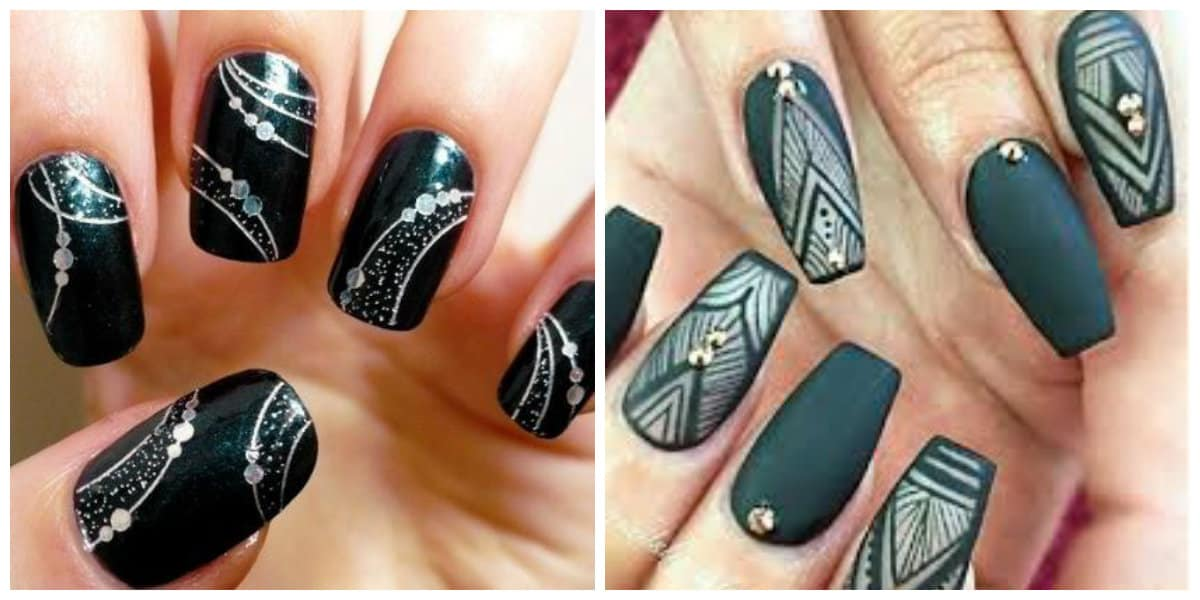 Tendencias de colores de uñas-tonos-de-pastel, blanco y gris