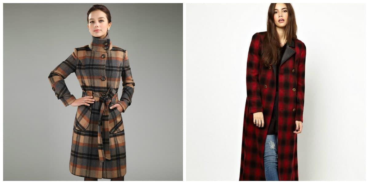Abrigos de invierno 2020- estilo con cuadros de moda