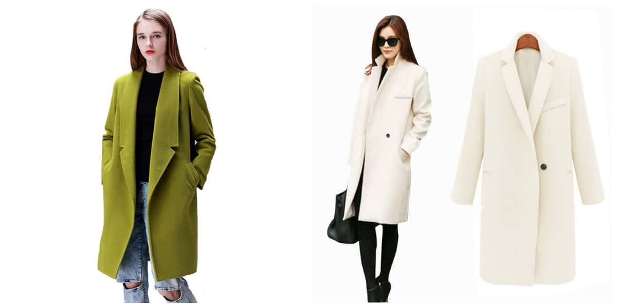 Abrigos de invierno 2020- material cachemira para aprigos de moda