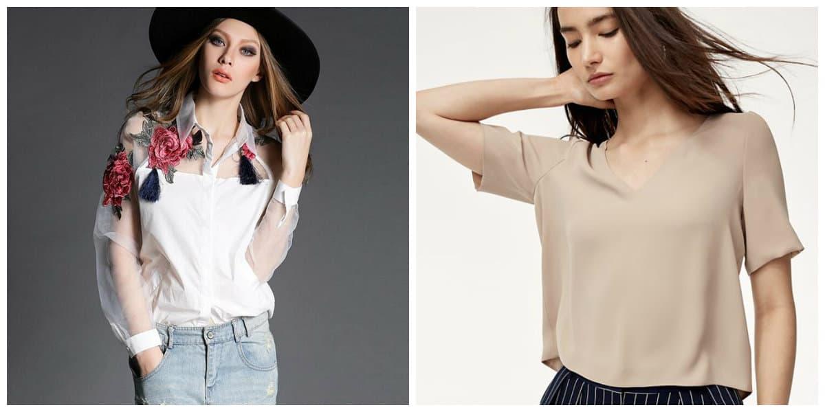 Blusas de moda 2018- combinables con ropas diferentes