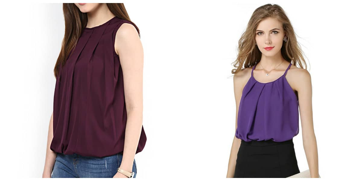 Blusas de moda 2020- blusas sin mangas de moda