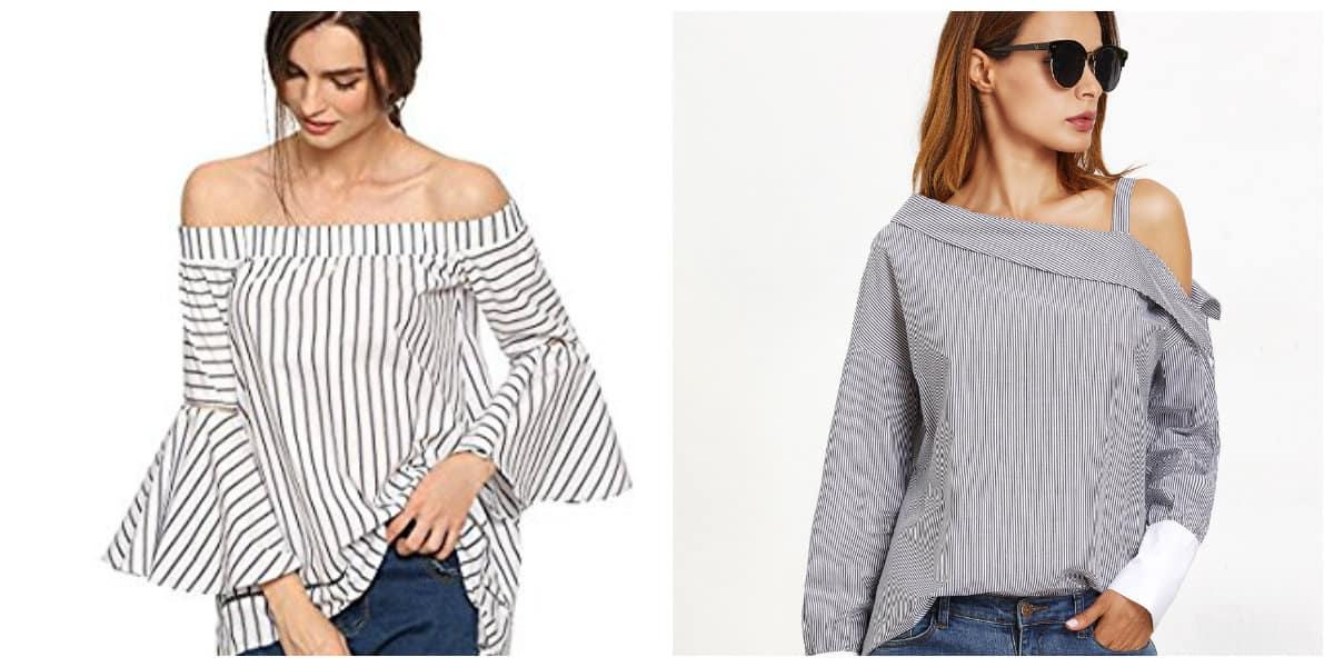 Blusas de moda 2018- con mangas planas en tendencia