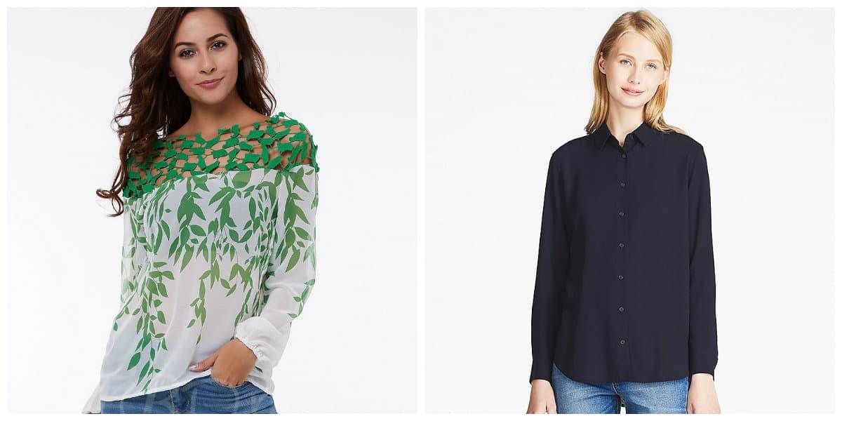 Blusas de moda 2018- diferentes materiales de los que se hacen las blusas