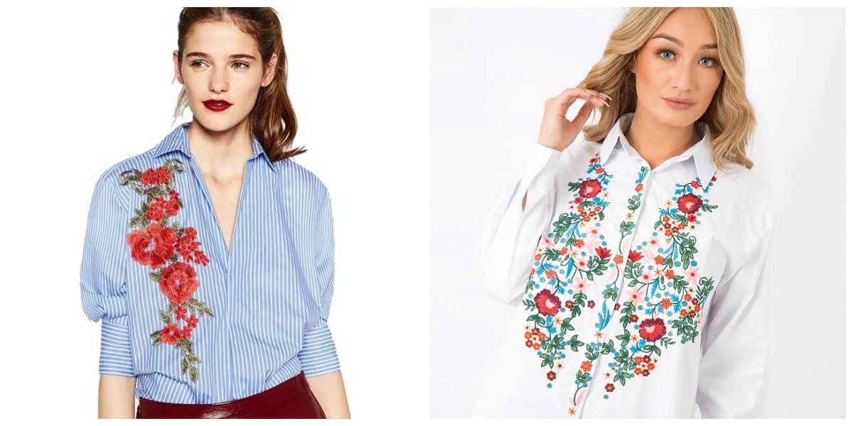 Blusas de moda 2018- diesno floral que estan en tendencia