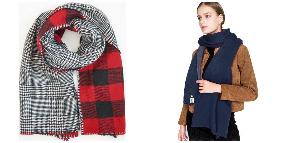 Bufandas 2018- se pueden usar las dos parte de la bufanda