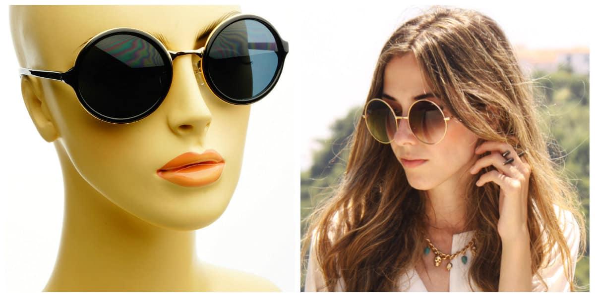 Gafas de sol 2018- modelos redondas teashades de moda