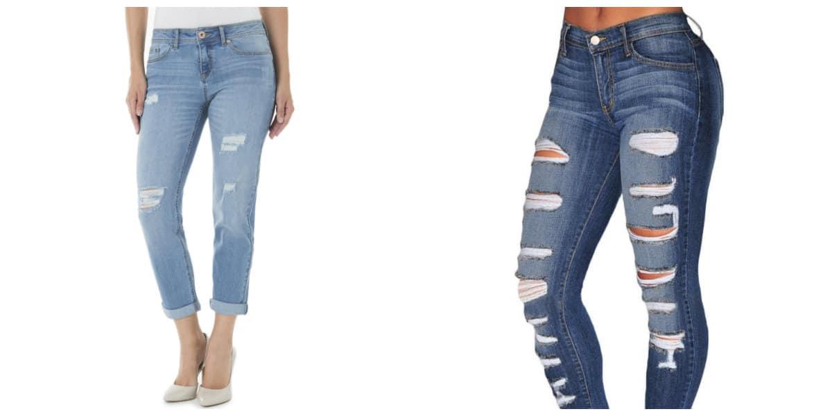 Jeans para mujer 2018- con cortes de ajustacion de moda
