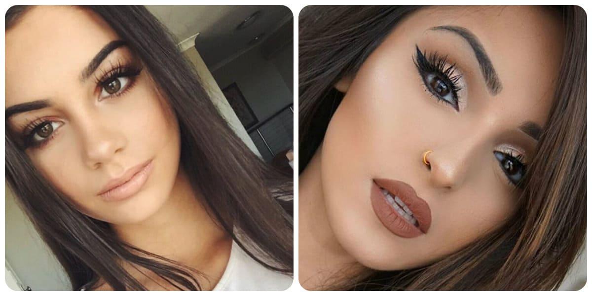 Maquillaje 2018- apariencia del maquillaje de ayer