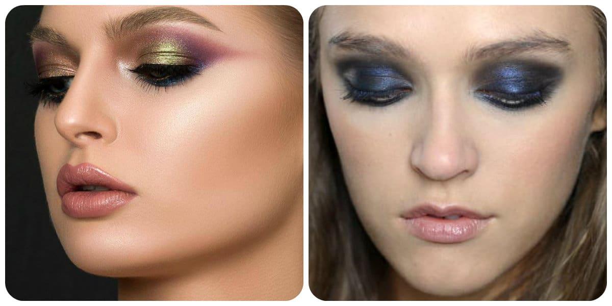 Maquillaje de moda 2018- los colores metacilos estan de moda