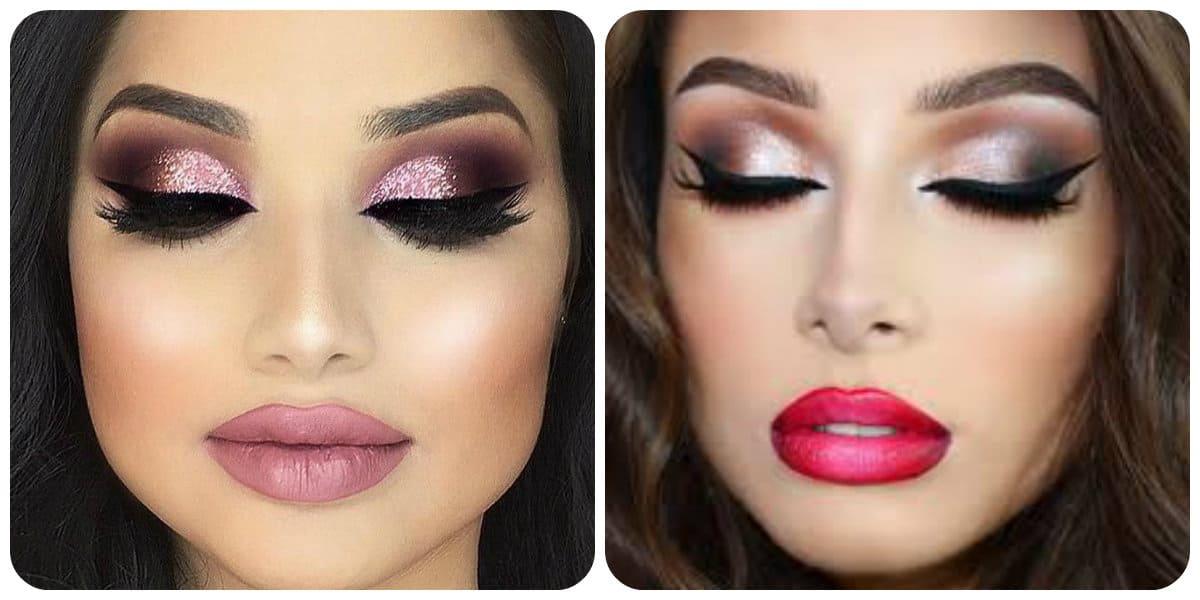 Maquillaje de moda 2018- suaves correcciones para el maquillaje de moda