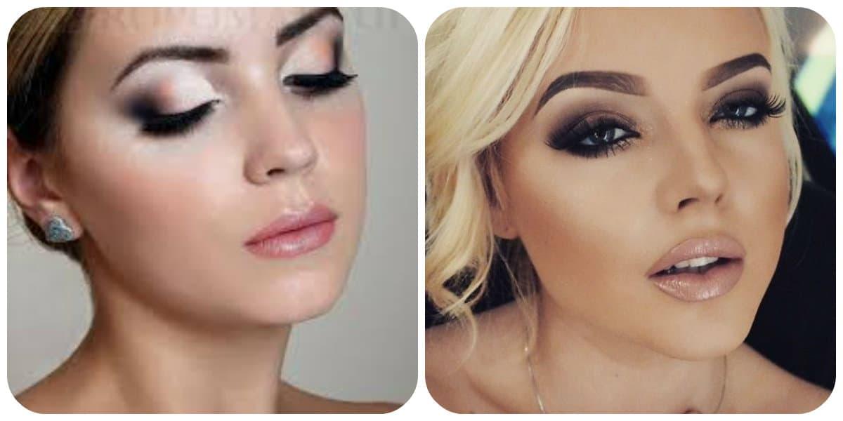 Maquillaje de noche 2022- delineador de ojos que resalta las flechas