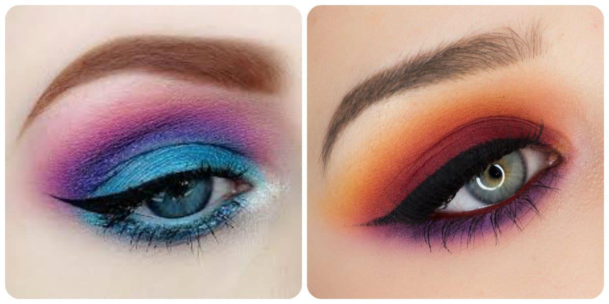 Maquillaje de ojos 2020- sombras brillantes con tencendias actuales