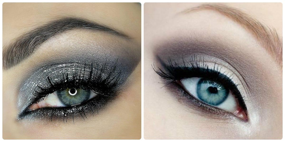 Maquillaje de ojos 2018- el gris pastel da frescura a los ojos