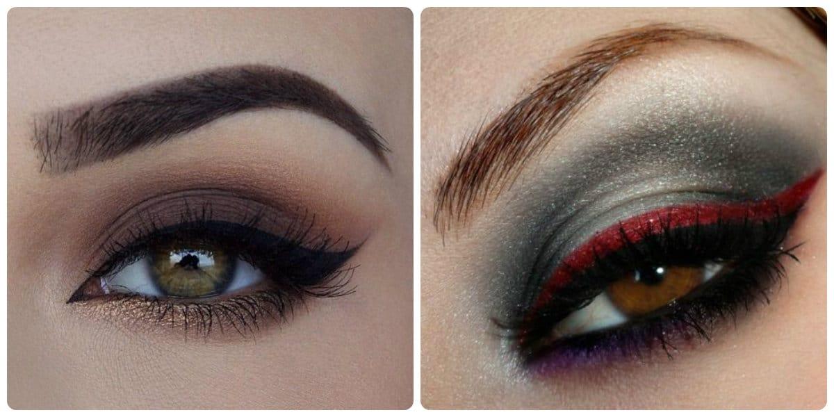 Maquillaje de ojos 2018- ojos ahumados con las tonalidades de gris