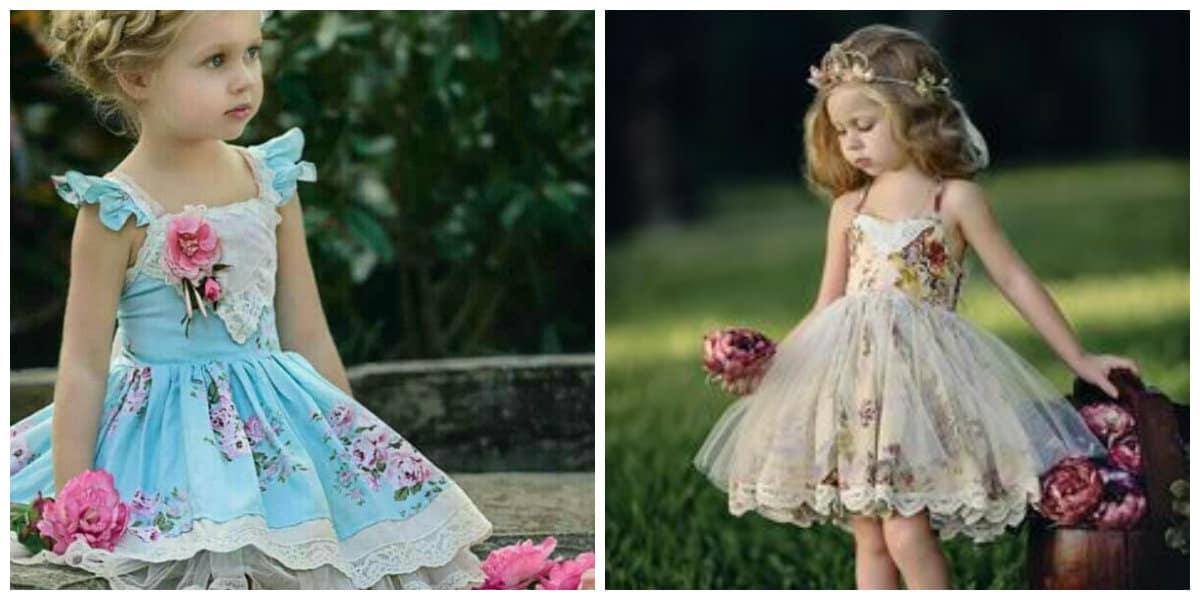 Moda para niños 2020- estilo retro para las ninas de moda
