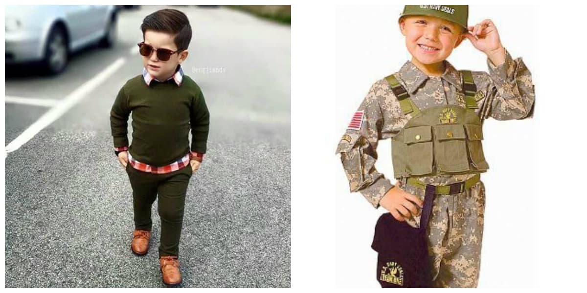 Moda para niños 2020- uniforme militar para los chicos de moda