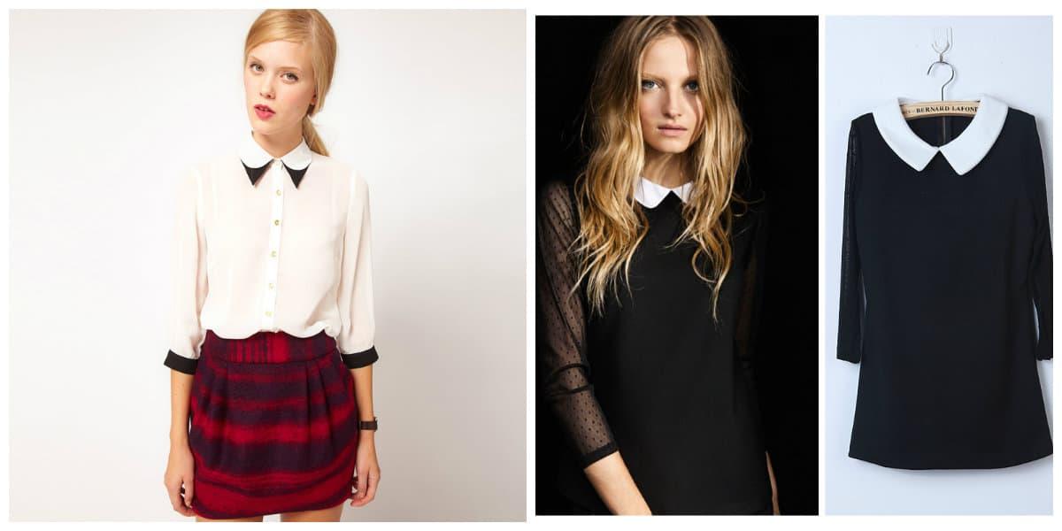 Modelos de blusas 2018- con collar, sugerida por estilistas