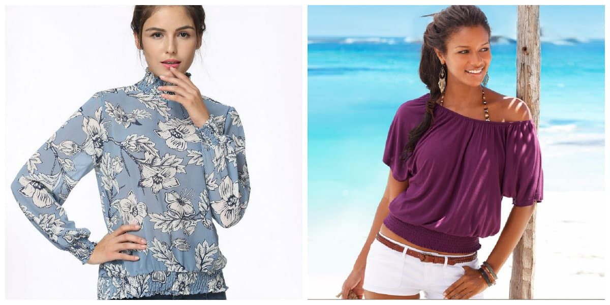Modelos de blusas 2020- banda elastica en hombros adecuados
