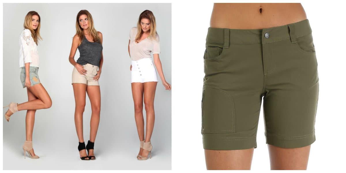 Pantalones cortos mujer 2018- sugerencias elegantes femeninas