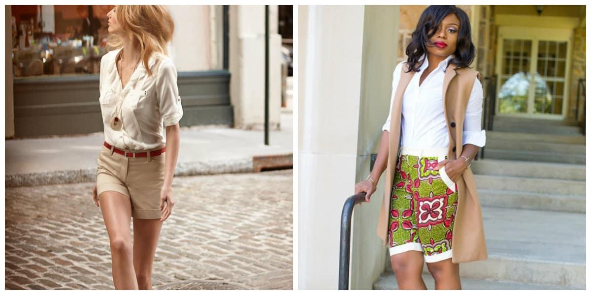 Pantalones cortos mujer 2018- safari y estilo alargado