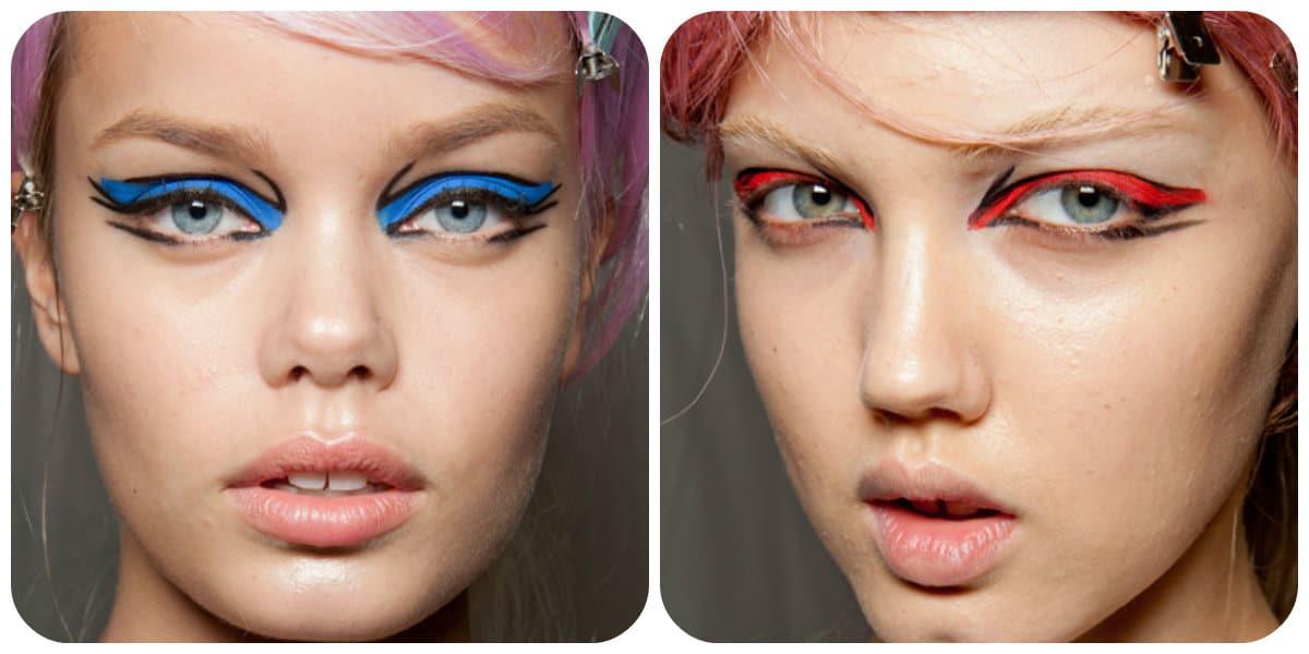 Sombras de ojos 2020- ejemplo de Anna Sui como mujer de moda