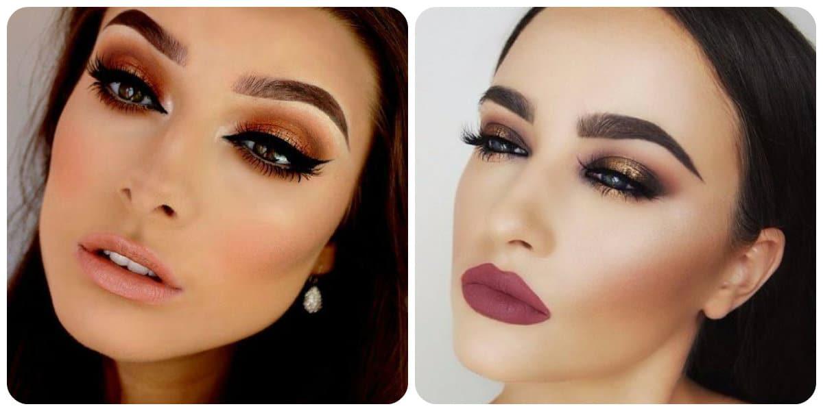 Tendencias de maquillaje 2018- gama de colores diferentes
