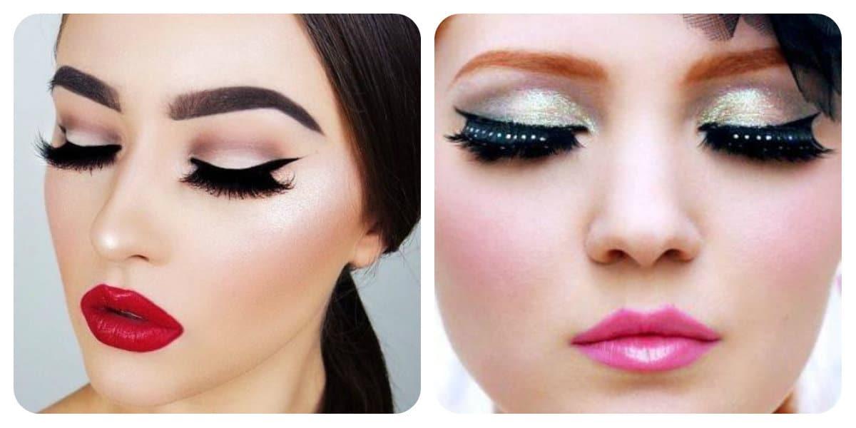 Tendencias de maquillaje 2018- labios brillantes de moda