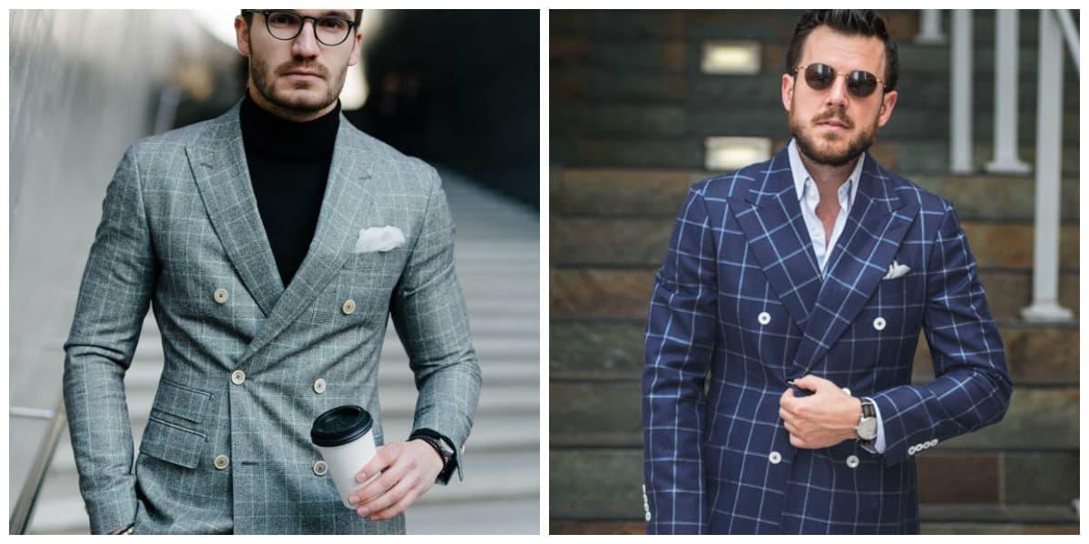 trajes de hombres 2018 - trajes de cuadros muy de gusto y elegantes