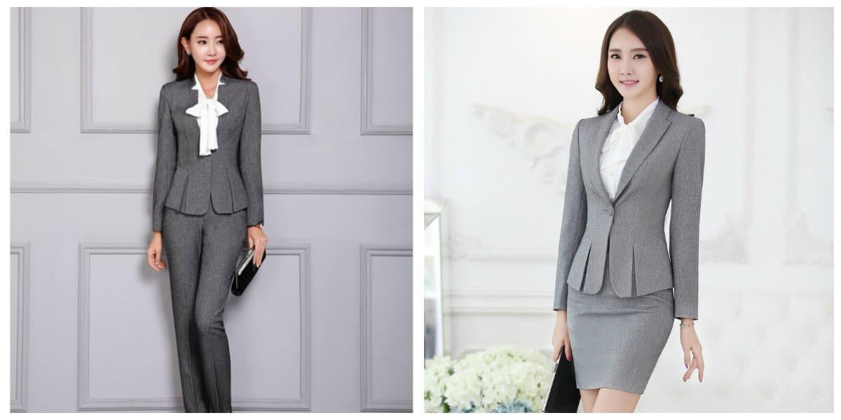 Trajes para mujeres 2018- estio de negocios de moda femenina