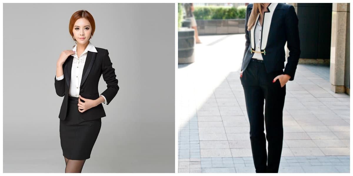 Trajes para mujeres 2018- color negro parte indispensable de la guardarropa de mujer