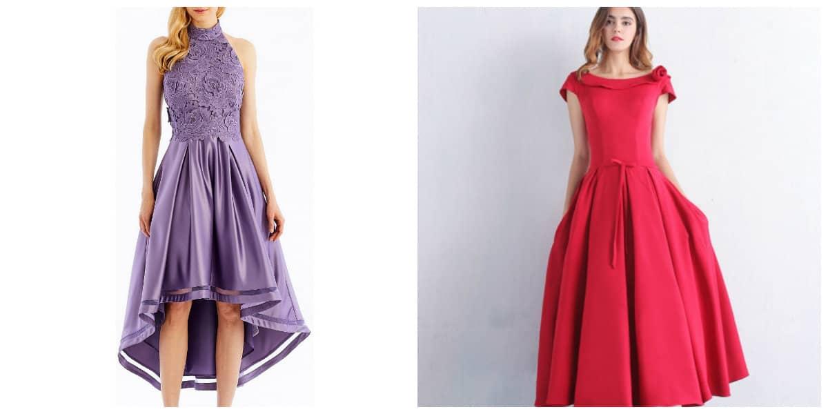 Vestidos de cóctel 2018- elegantes tendencias de moda femenina