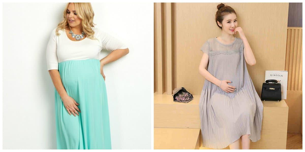 Vestidos de maternidad 2022- colores tranquilos para mujeres embarazadas