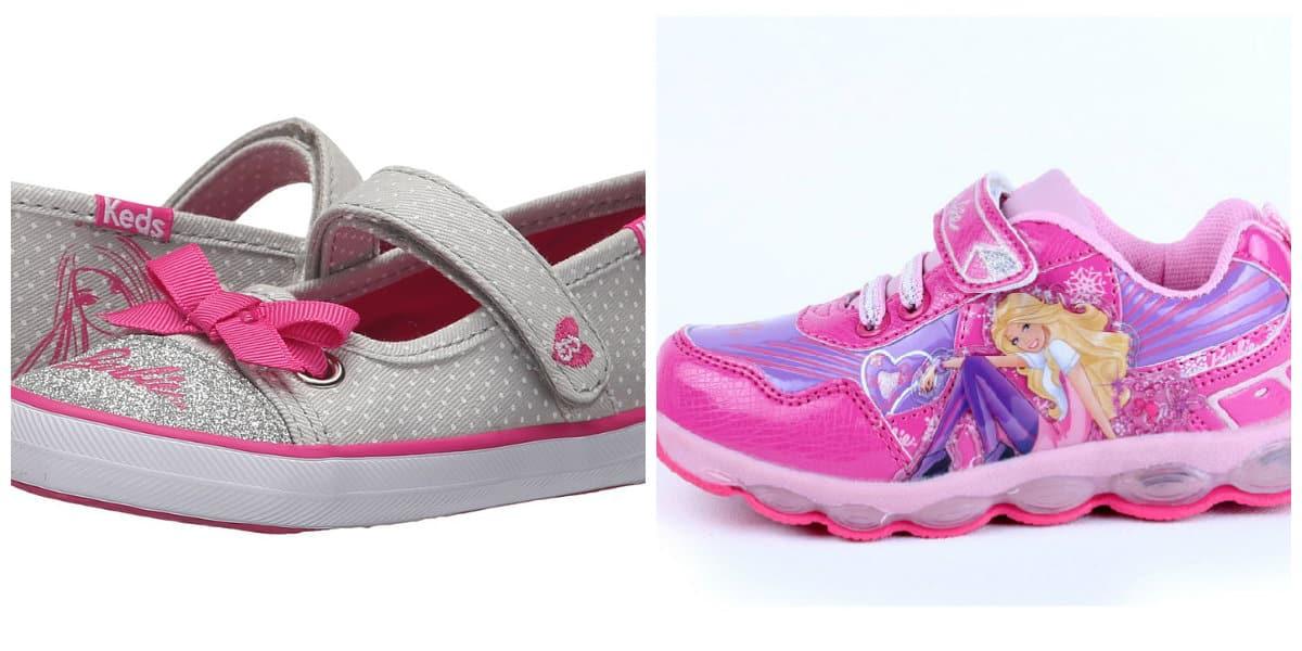 Zapatos para niñas 2018- modelo con decoracion de Barbie