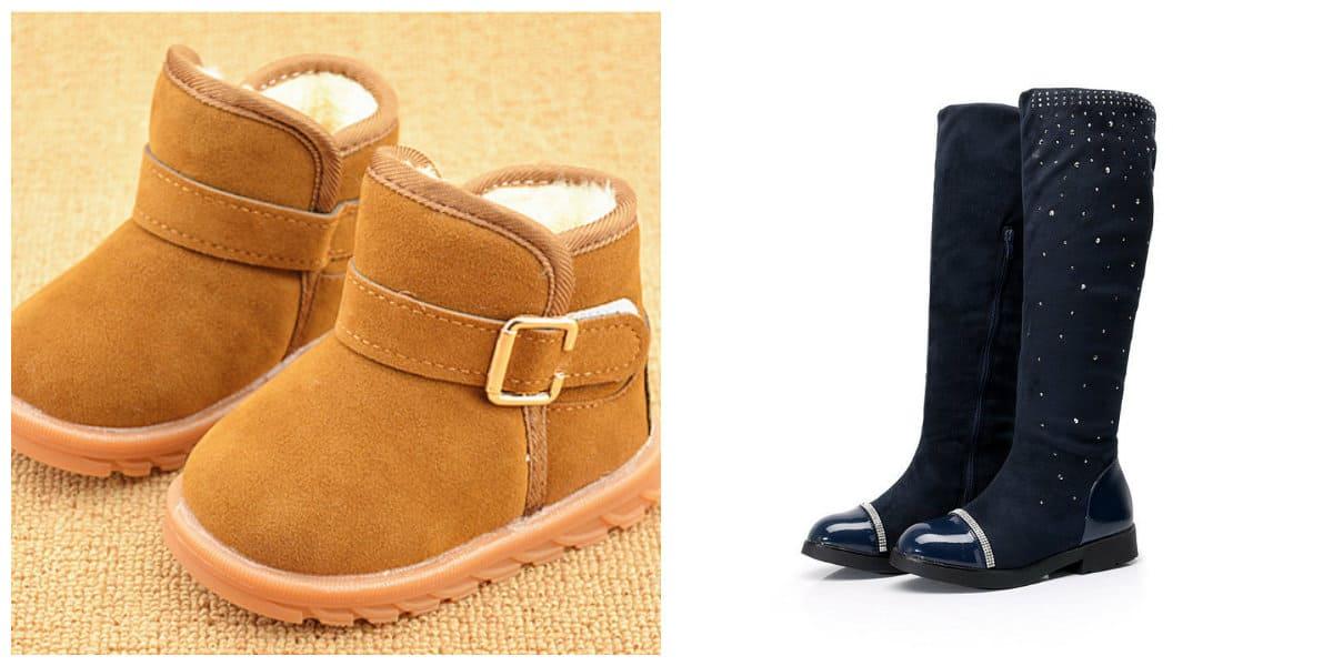 Zapatos para niñas 2018- botas de fieltro muy de moda
