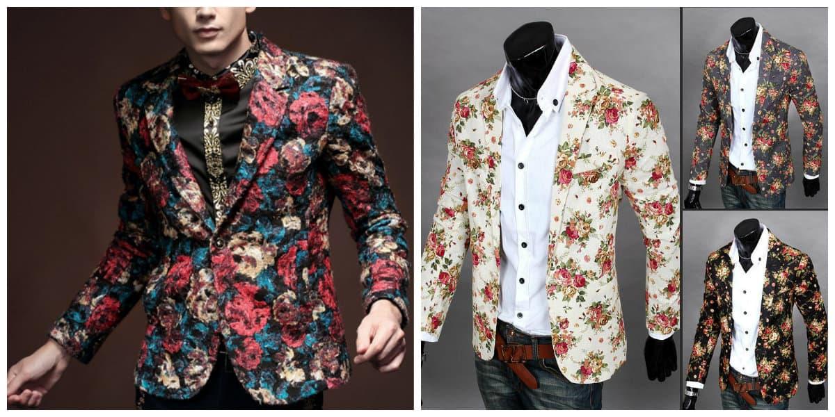 Blazer hombre 2020- bordado de flores esta de moda
