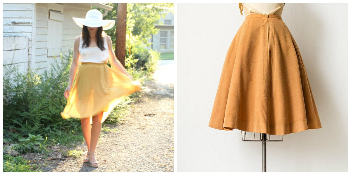 Moda femenina 2018- falda ligera sol muy de moda