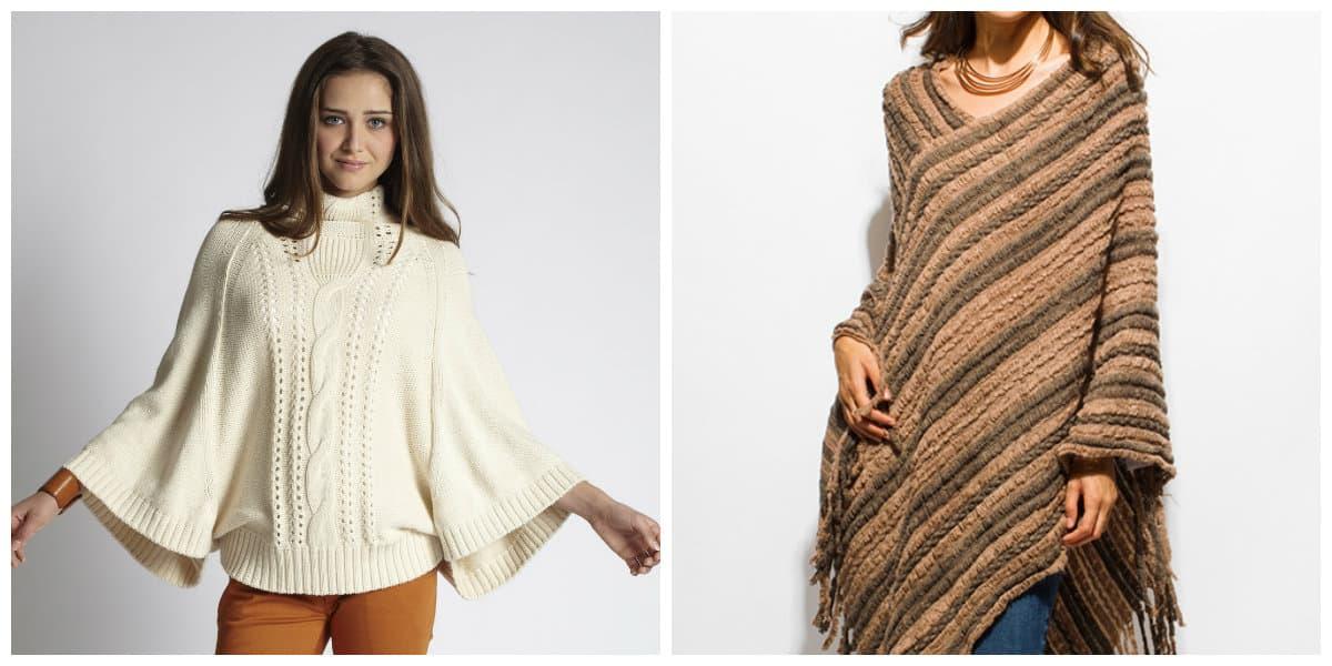 Poncho de suéter es elemento independiente del armario, y como capa como prendas de vestir exteriores. Puede cumplir con este estilo audaz en últimos movimientos de moda 2020.- sueter poncho no sale de tendencias de moda