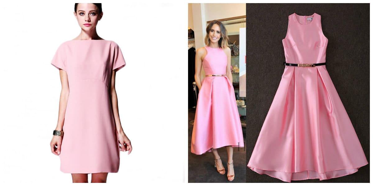 Moda femenina 2020- color rosa es ideal para los vestidos de moda