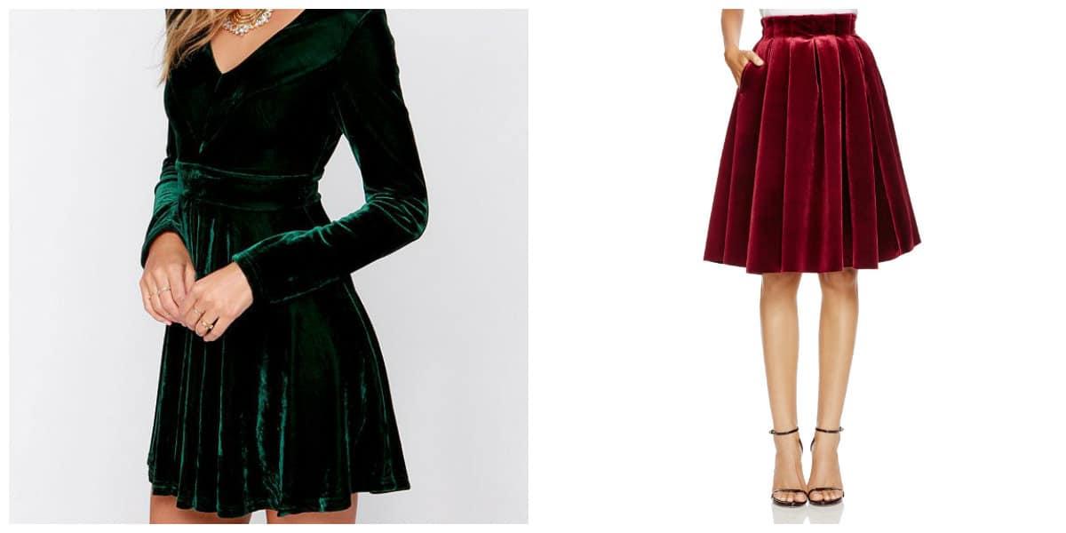 Moda femenina 2020- flada de felpa, estilo de coampana